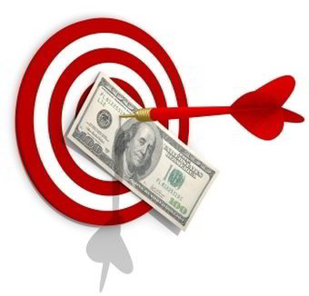 bulls eye money target
